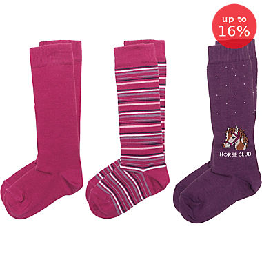 Pack of 3 Erwin Müller knee-high socks