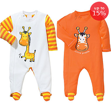 Erwin Müller 2-pack sleepsuits