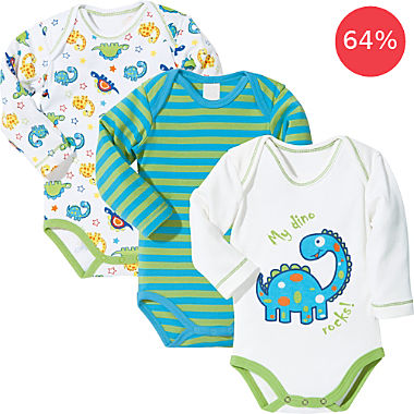 Erwin Müller 3-pack bodysuits