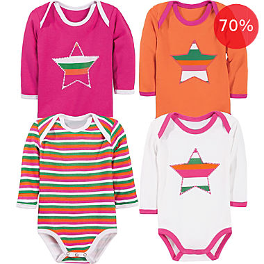 Erwin Müller 4-pack baby bodysuits