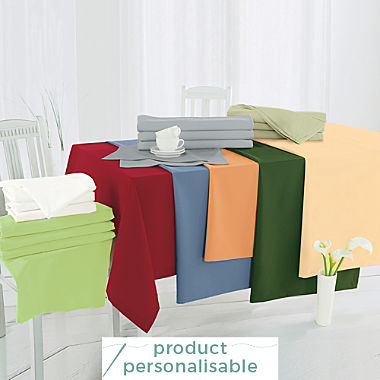 Sander stain resistant square tablecloth