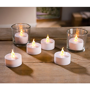 6-pack LED tea light candles