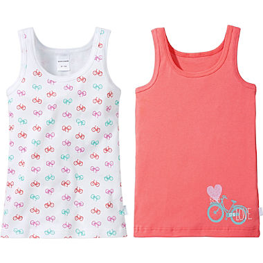 Schiesser 2-pack kids underwear vests