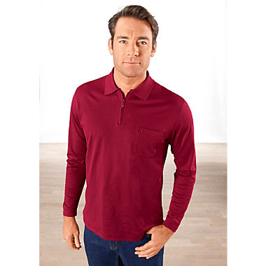 Ragman men's long sleeve polo shirt