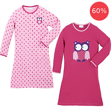 Erwin Müller interlock jersey 2-pack girl's nightdresses