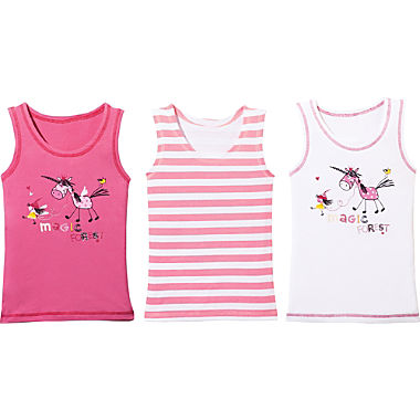 Erwin Müller 3-pack girl's underwear vests