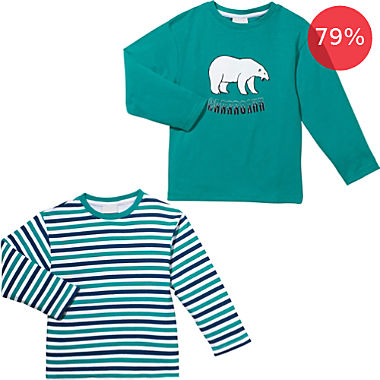 Erwin Müller 2-pack kids long sleeve underwear tops