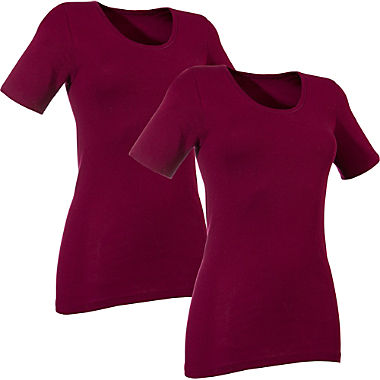 2-pack women's short sleeve vests