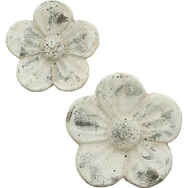 2-pack cement flowers