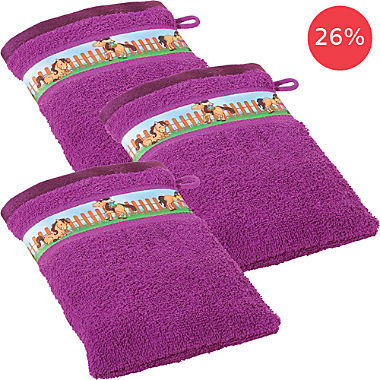 Erwin Müller 3-pack kids wash mitts