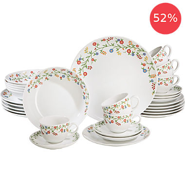 Gepolana by Erwin Müller 30-pc tableware set