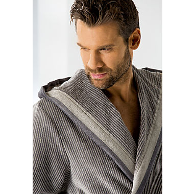 Cawö men's hooded bathrobe