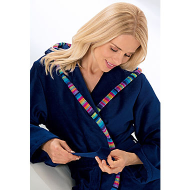 Cawö women's hooded bathrobe