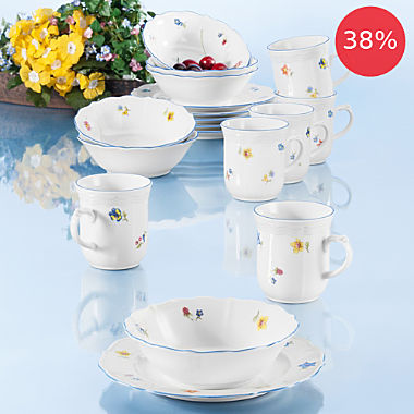 Seltmann Weiden 18-piece breakfast set