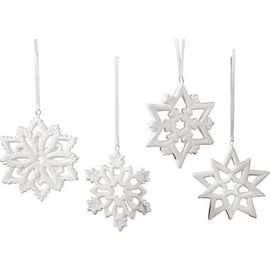 4-pack winter decorations