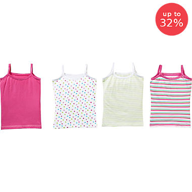 Erwin Müller 4-pack girl's underwear vests