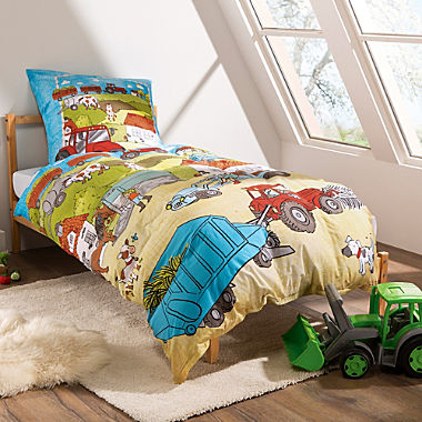 Erwin Müller cotton flannelette kids duvet cover set