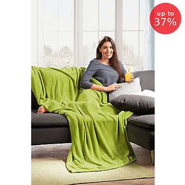 Ibena 2-pack home blankets