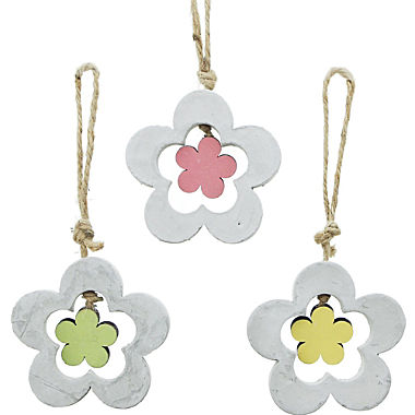 3-pack hanging decoration, flower