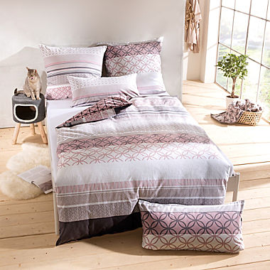 Erwin Müller cotton flannel reversible duvet cover set