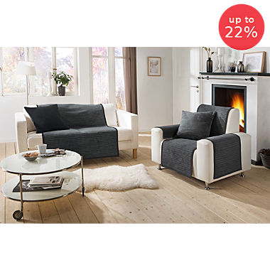 Ibena 3-piece armchair & sofa cover set