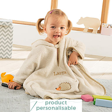 Erwin Müller kids hooded poncho