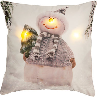 REDBEST LED cushion cover snowman