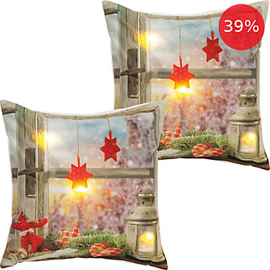 2-pack REDBEST LED cushion covers lantern