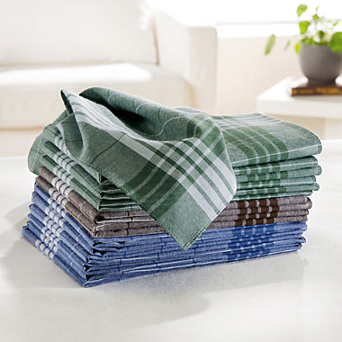 12-pack men's handkerchiefs