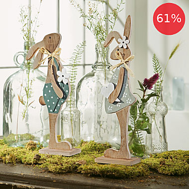 2-pack Easter decoration figurines