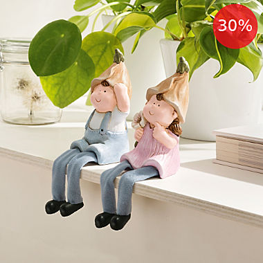 2-piece shelf sitters