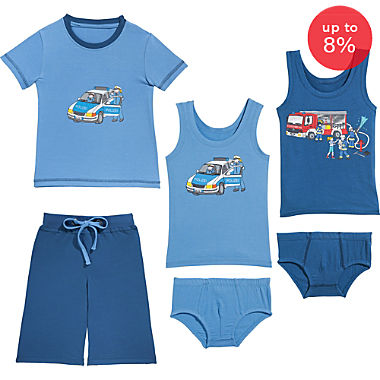 Erwin Müller  6-piece boys pj & underwear set