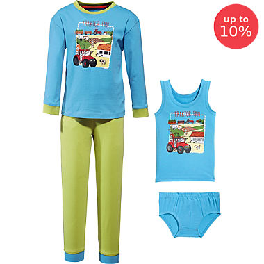 Erwin Müller  4-piece boys pj & underwear set