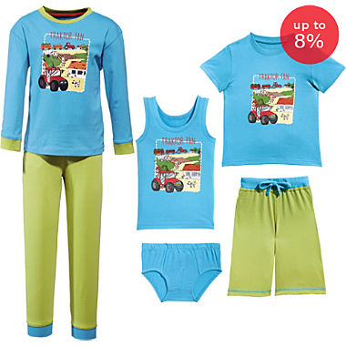 Erwin Müller single jersey 6-piece boys pj & underwear set