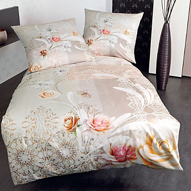 Janine Egyptian cotton sateen reversible duvet cover set