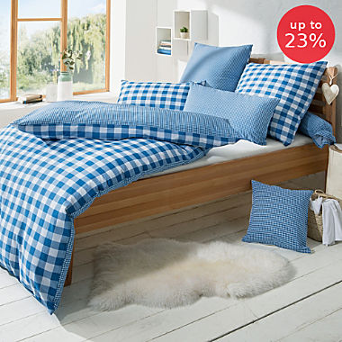 Erwin Müller seersucker reversible duvet cover set