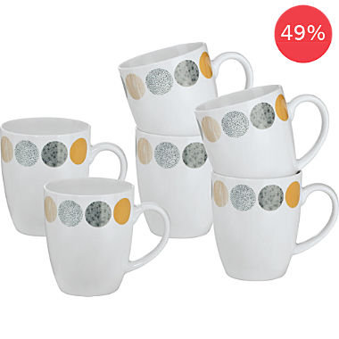 Gepolana 6-pack coffee mugs