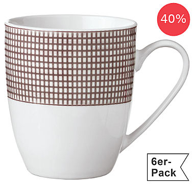 Erwin Müller 6-pack coffee mugs