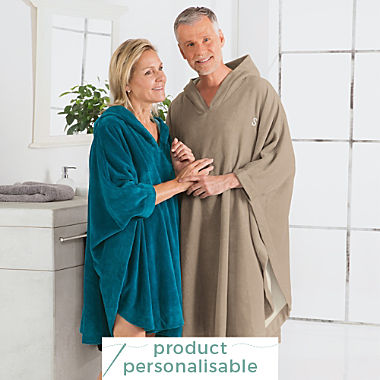 Erwin Müller unisex towel poncho long with hood