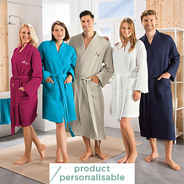 Erwin Müller short unisex bathrobe
