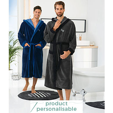 Erwin Müller men's hooded bathrobe