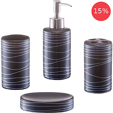 bathroom accessory set, 4-parts