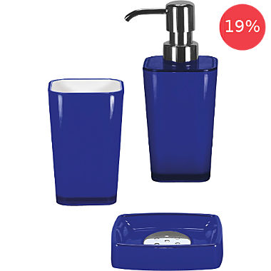 Kleine Wolke soap dispenser, soap dish and toothbrush tumbler set
