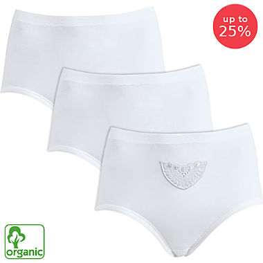 Schöller 3-pack women's organic cotton full briefs