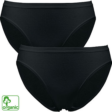 Pompadour 2-pack organic cotton bikini briefs