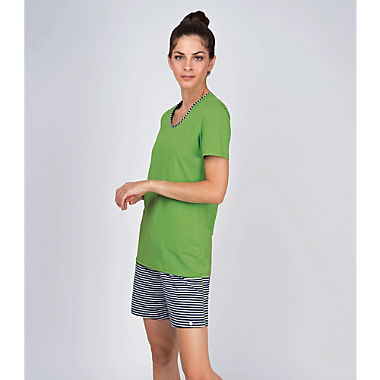 Ammann single jersey women short pyjamas