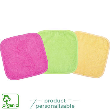 Wörner 3-pack kids organic cotton washcloths
