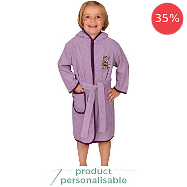 Wörner kids hooded bathrobe