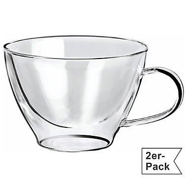 2-pack cappuccino glasses