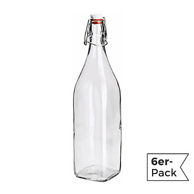6-pack bottles with swing top